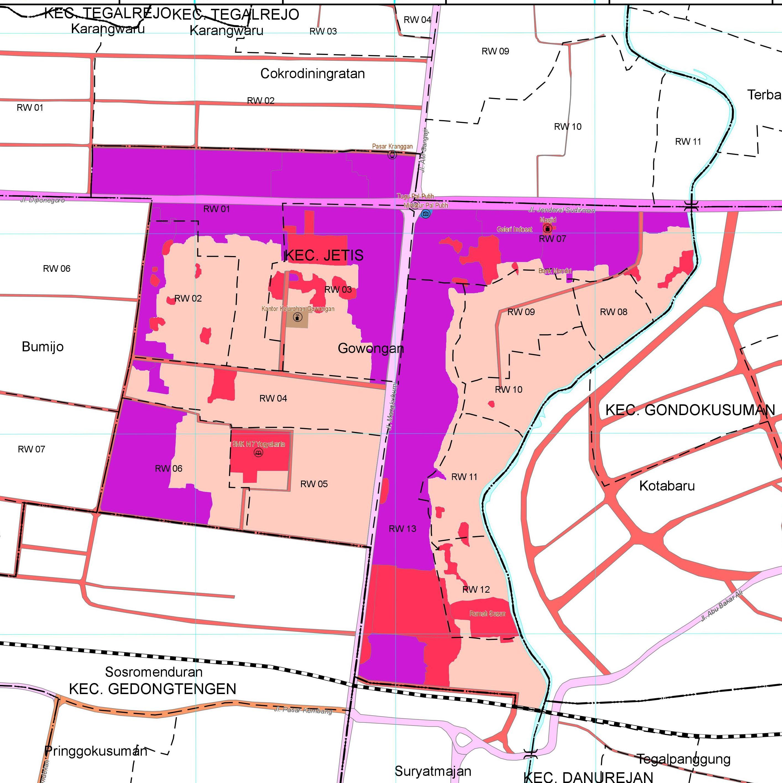 Peta Wilayah Kelurahan Gowongan