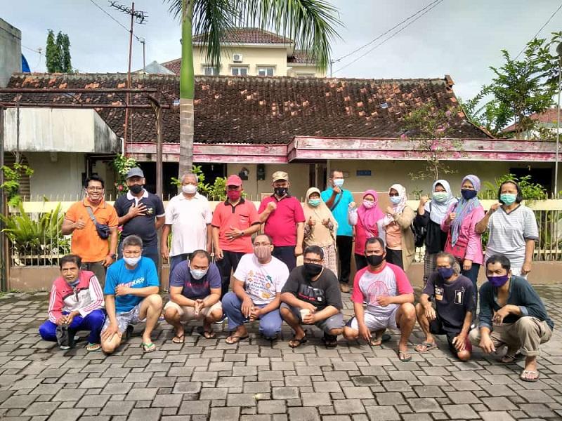 Edukasi penanganan covid -19 di Kampung Gowongan