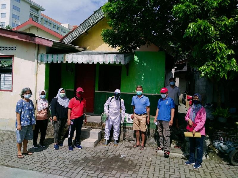 Edukasi penanganan covid -19 di Kampung Jogoyudan